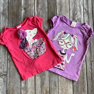 2 Gymboree Tees 12-18 Months